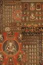 和室 床の間 掛け軸 胎蔵界曼荼羅 曼荼羅図 密教仏具 複製画仏画