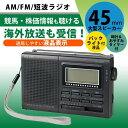 ラジオ 短波 海外ラジオ 受信機 携帯ラジオ イヤホン 短波...