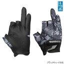 シマノ 3D アドバンスグローブ3 GL-021S XL ブラックウィードカモ【ゆうパケット】