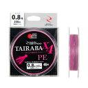 タカミヤ(TAKAMIYA) REALMETHOD TAIRABA PE X4 200m 0.8号 ピンク