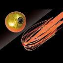 ジャッカル(JACKALL) タングステン鯛カブラ ビンビン玉 スライド 120g オレンジゴールド/蛍光オレンジ
