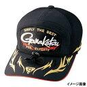 がまかつ(Gamakatsu) ハーフメッシュワッペンキャップ GM-9783 L ブラック/ゴールド