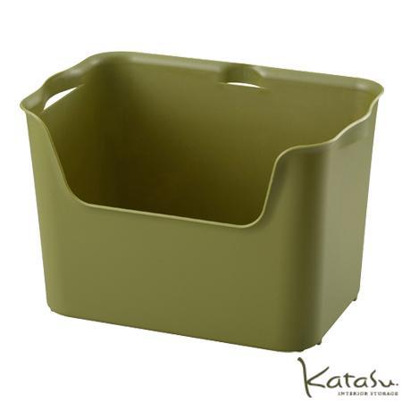収納ボックスKatasu(カタス) ハコ L グリーン カラーボックス