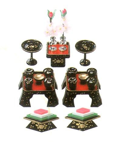 雛人形(ひな人形) 雛飾り小道具『お膳揃い』(1...の商品画像