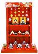 雛人形 【送料無料】『つるし飾り台 わらべ雛 10人揃い』手作りちりめん細工 和雑貨 なごみ かわいい  コンパクト  リュウコドウ ひなまつり