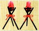 5%OFF クーポン 子供(こども)の日 篝火(かがりび) 一対 端午の節句飾り・五月人形 手作りちりめん細工 和雑貨 リュウコドウ
