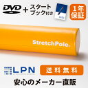 【メーカー公式】LPN ストレッチポールEX(イエロー)スタートBOOK、エクササイズDVD付き 1年保証
