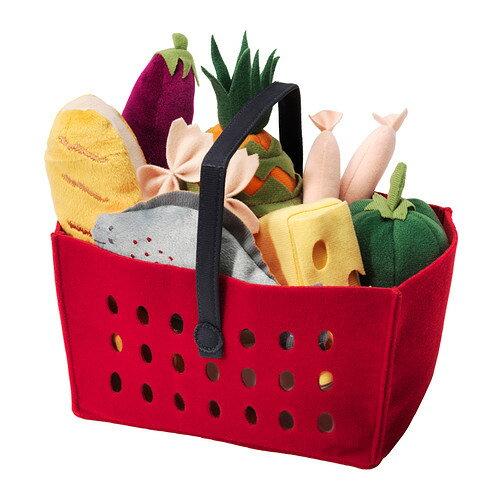 【IKEA Original】LATSAS おままごと用 ショッピングバスケット12点セット 野菜・パスタ・ソーセージなど