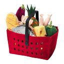 RoomClip商品情報 - 【IKEA Original】LATSAS おままごと用 ショッピングバスケット12点セット 野菜・パスタ・ソーセージなど
