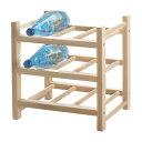【IKEA Original】HUTTEN-フッテン- 木製ワインラック 9本用 無垢材