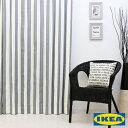 カーテン ストライプ 【IKEA】ソフィア グレー 綿100 北欧 おしゃれカーテン ボーダー 輸入 ピッタリサイズ シンプル 目隠し 試着室 オーダーメイド モノクロ モノトーン 男性 新生活 一人暮らし オシャレ かっこいい