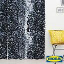 カーテン【ストックホルム2017】【IKEA】自然素材 コットン 綿100 北欧カーテン おしゃれ カーテン IKEA ピッタリサイズ シンプル 男性 一人暮らし メンズ ブルー 北欧 海外 デニム色 大きい窓 送料無料