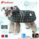 【定価の20%OFF】(ポンポリース)2タッチレインコート タータンチェック 7号 /中型犬 大型犬 犬服 カッパ