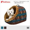 【ポンポリース】巣穴カドラー ネイティブアメリカン M /犬 小型犬 猫 ドームベッド ベット 冬 あったか 防寒