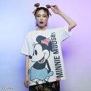 【Disney(ディズニー)/ミニーマウス】BIGプリントTシャツ
