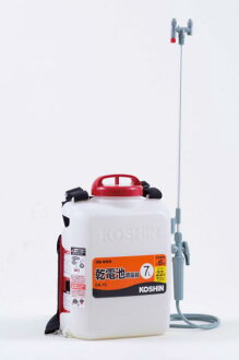 Battery-operated sprayer spray disinfection expert batteries DK-7 1 hex koshin KOSHIN DK7 gardening gardening flowers garden 5P13oct1413_b