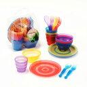 カラフルプラスチック食器セット10P03Dec16