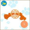 プラッツ/PLATZドギーラチスボール S オレンジ/5000円以上で送料無料/犬用 おもちゃ/犬 おもちゃ/ロープ/