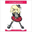 オリジナル PUNK★POODLEステッカー(ボーカル) 中 プードル/雑貨/シール/ステッカー/ステーショナリー/グッズ/犬/ドッグ