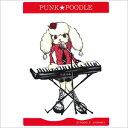 オリジナル PUNK★POODLEステッカー(キーボード) 小 プードル/雑貨/シール/ステッカー/ステーショナリー/グッズ/犬/ドッグ