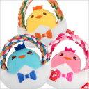 香り付きデンタルロープTOY おはようピヨコ(4775) 犬 ドッグ ペット おもちゃ ぬいぐるみ 玩具デンタル 歯みがき ロープ