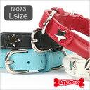 K.コレクション 丸皮カラー(Lサイズ)N-073 犬 ドッグ ペット 首輪 ハーネス レザー 革 チョーク 小型犬 中型犬 シンプル 本革