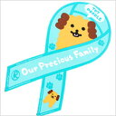 "Ribbon magnet ""Our Precious Family"" toy poodle [poodle / miscellaneous goods / stationery / goods / dog / dog]"