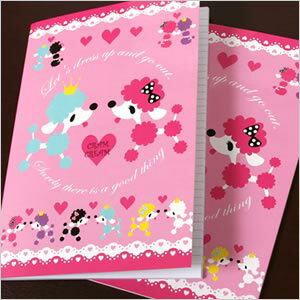 Fashionable poodle B5 notebook