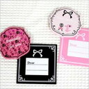 Poodle mini-card square type [poodle / miscellaneous goods / card / greeting card / stationery / goods / dog / dog]
