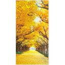 イチョウ並木タペストリー|秋演出の壁掛け装飾(防炎加工)