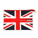 Bandiera(バンディエラ) ナショナル フラッグ ニューフラットポーチ M UK 11747 ユニオンジャック イギリス 地図 ポーチ 送料込み メール便配送