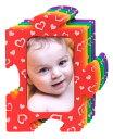 パズルフォトフレーム レインボー ハート 写真立て カラフル ベビー 赤ちゃん マグネット 出産祝い 子ども ゆうパケット可 プレゼント 誕生日 お祝い 子供 ...