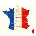 Bandiera(バンディエラ) ダイカットステッカー (フランス) 8971 地図 シール デカール France Tricolore トリコロール グッズ 雑貨 送料込み メール便配送