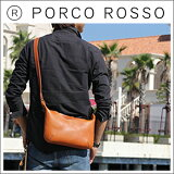 PORCO ROSSO(ポルコロッソ)薄マチショルダーS/レザー/本革/ショルダーバッグ/小さめ/