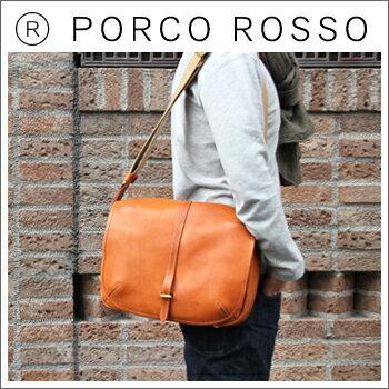 【全品ポイント10倍!】PORCO ROSSO(ポルコロッソ)カバーショルダー/本革/レザー/ショルダーバッグ/メッセンジャーバッグ/斜めがけ/メンズ/レディース/