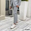 ショッピングiPad2 EXIBIT(エクシビット)ストレッチ3Pパンツ ライトグレー メンズ 男性 インポート import イタリア Itary 海外 現地買付 exi_pad22269_lg
