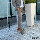 ショッピングiPad2 EXIBIT(エクシビット)千鳥ブラウンSETUPパンツ メンズ 男性 インポート import イタリア Itary 海外 現地買付 exi_pad22541_br