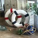 ショッピングうきわ スイムリングSサイズ浮き輪型オブジェブルー&ホワイト