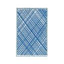 ショッピングカーペット ROMBUS コットンラグ クロス/ブルー