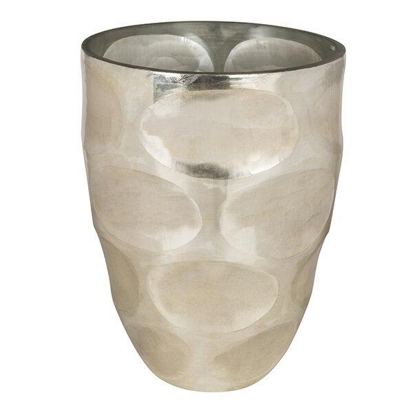 北欧雑貨 花びん 花瓶 花器 フラワーベース シルバー Mサイズ