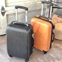 ショッピングキャリーバッグ Leather スーツケース/ブラック