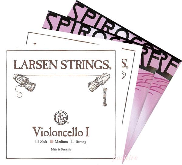 ポジティブおすすめ!チェロ弦SET2<ラーセン+スピロコア>...:positive:10001912