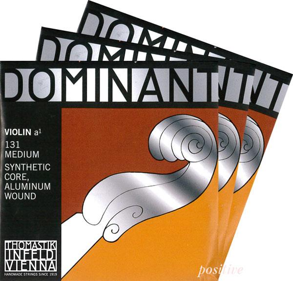 【Dominant】ドミナントバイオリン弦 2A、3D(アルミ巻)、4G セット 各サイズ...:positive:10001526