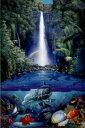 【送料¥290〜】 クリスチャン ラッセン(Christian Riese Lassen) 「kahana falls」 ポスター(101103)