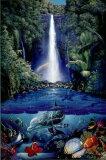 クリスチャン ラッセン(Christian Riese Lassen) 「kahana falls」 ポスター(101103)¥3800以上お買い上げで