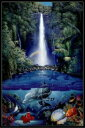 クリスチャン ラッセン(Christian Riese Lassen) 「kahana falls」 ポスター フレームセット(101103)
