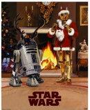 スターウォーズ (クリスマスバージョン C3PO R2D2) ミニ ポスター¥3800以上のお買い上げで