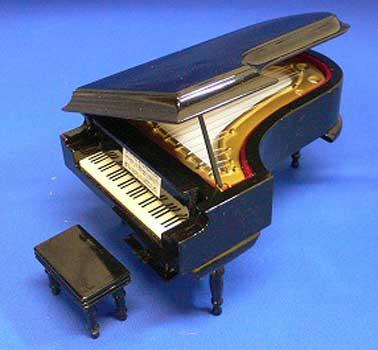 グランドピアノ 18cm ブラック ミニチュア楽器...:posterbin:10005448