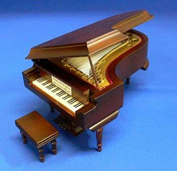 グランドピアノ 18cm ブラウン ミニチュア楽器...:posterbin:10005606
