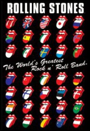 ローリングストーンズ Rolling Stones (International )  ポスター フレーム セット